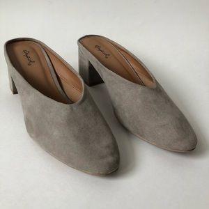 *Like New* Qupid Grey Suede Mules/Slides sz. 9